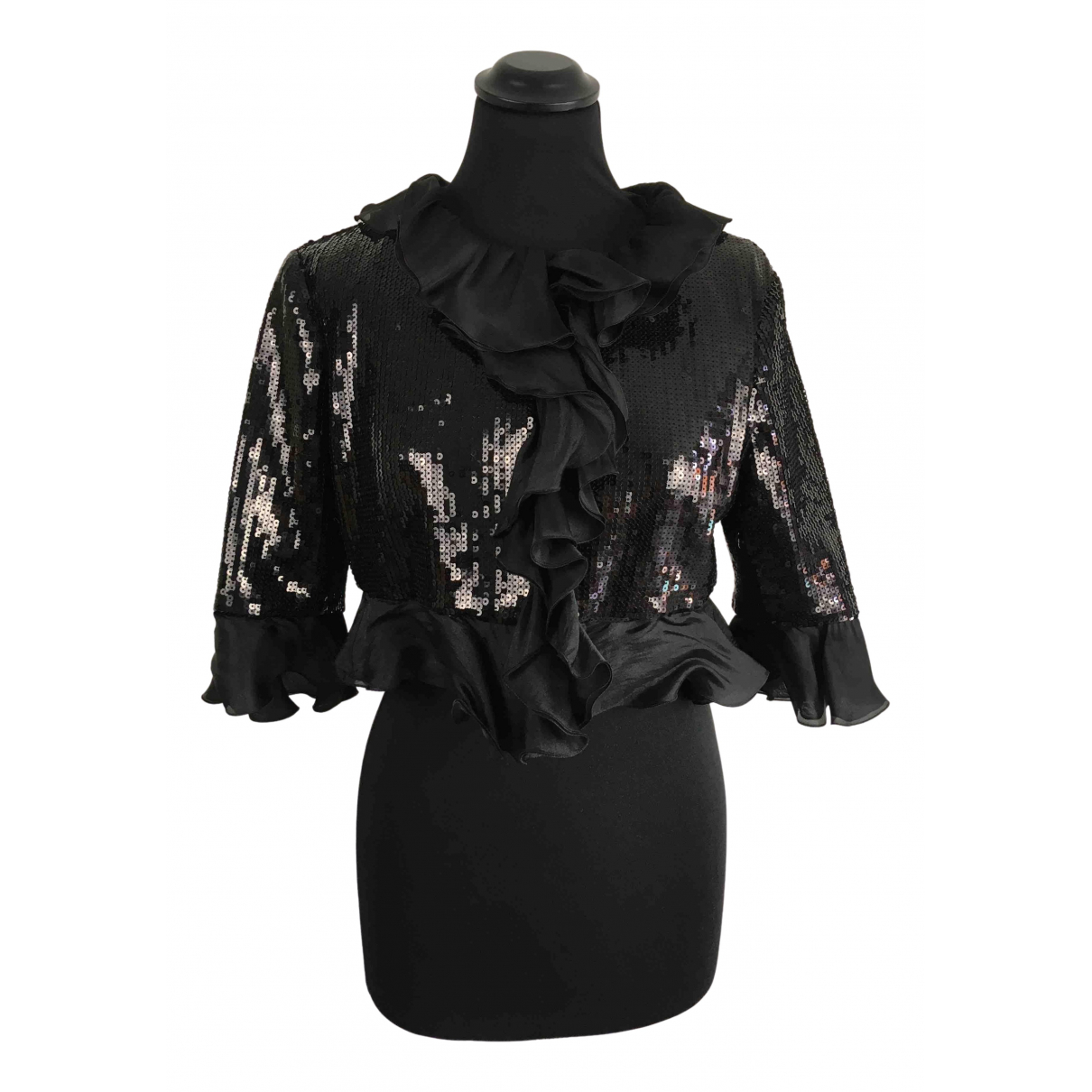 Moschino Cheap And Chic N Black Silk  top for Women 42 IT