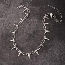 Maenner Halskette mit Kegel Dekor