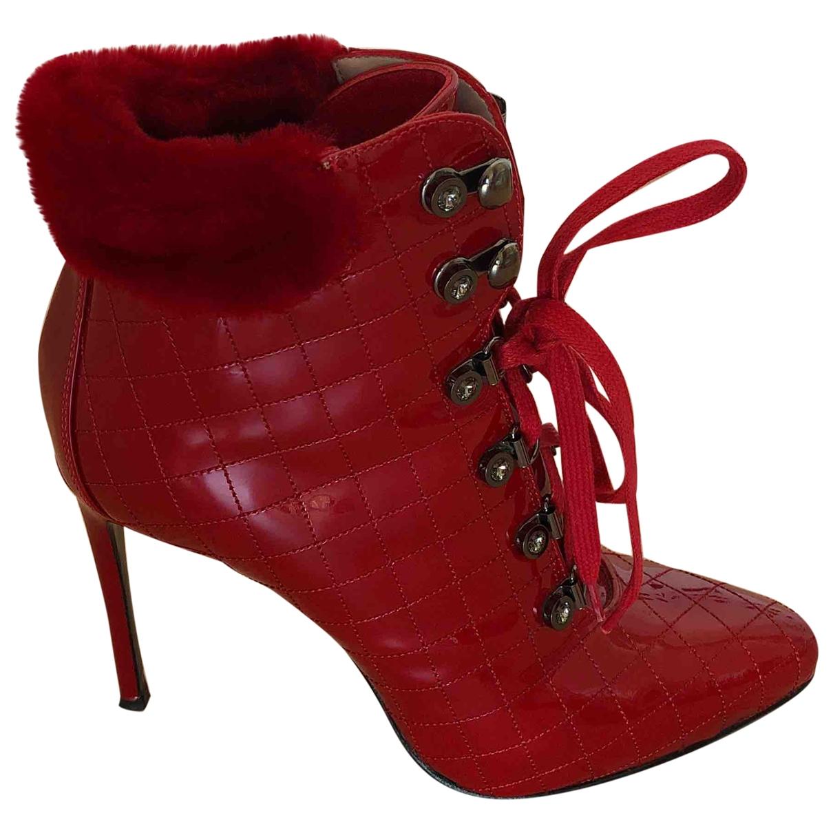 Le Silla - Derbies   pour femme en cuir - rouge