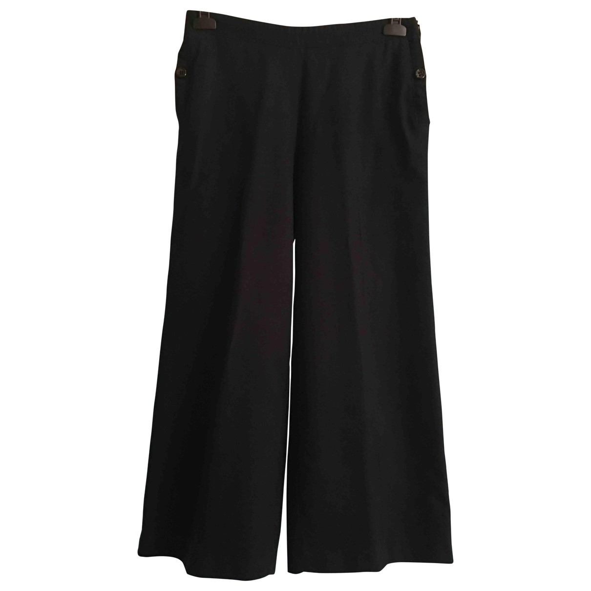 Non Signé / Unsigned \N Blue Wool Trousers for Women 42 IT