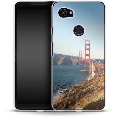 Google Pixel 2 XL Silikon Handyhuelle - Golden Gate Galore von Omid Scheybani