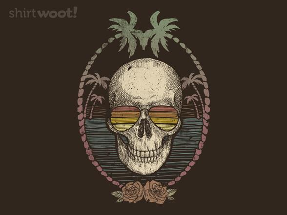 Palm Skull T Shirt