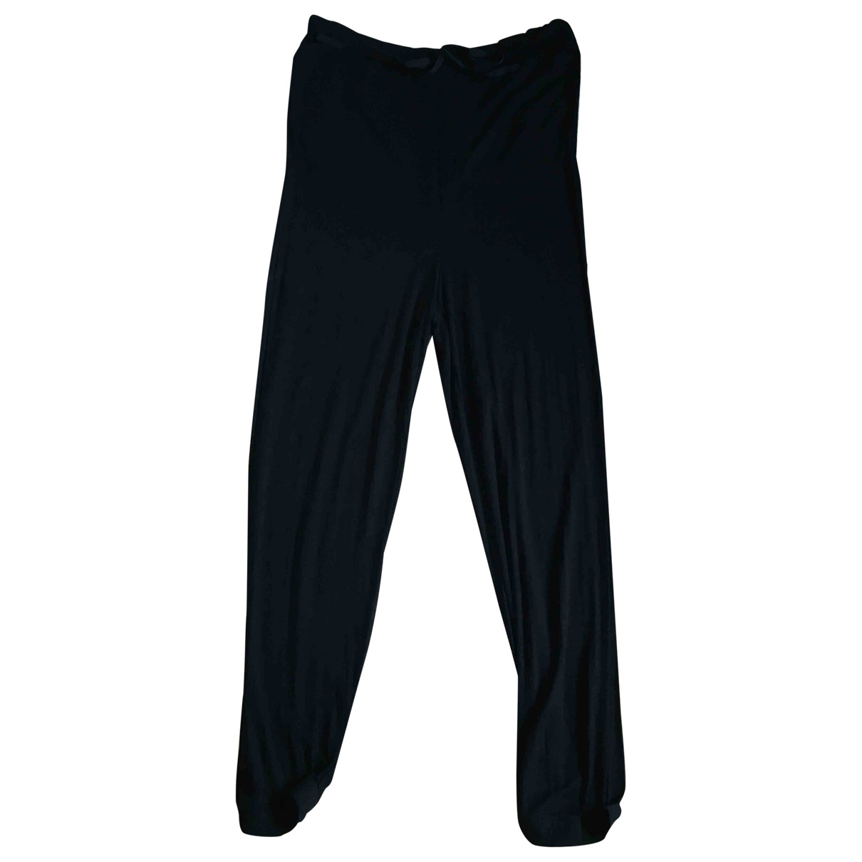 Ganni \N Black Cotton Trousers for Women S International