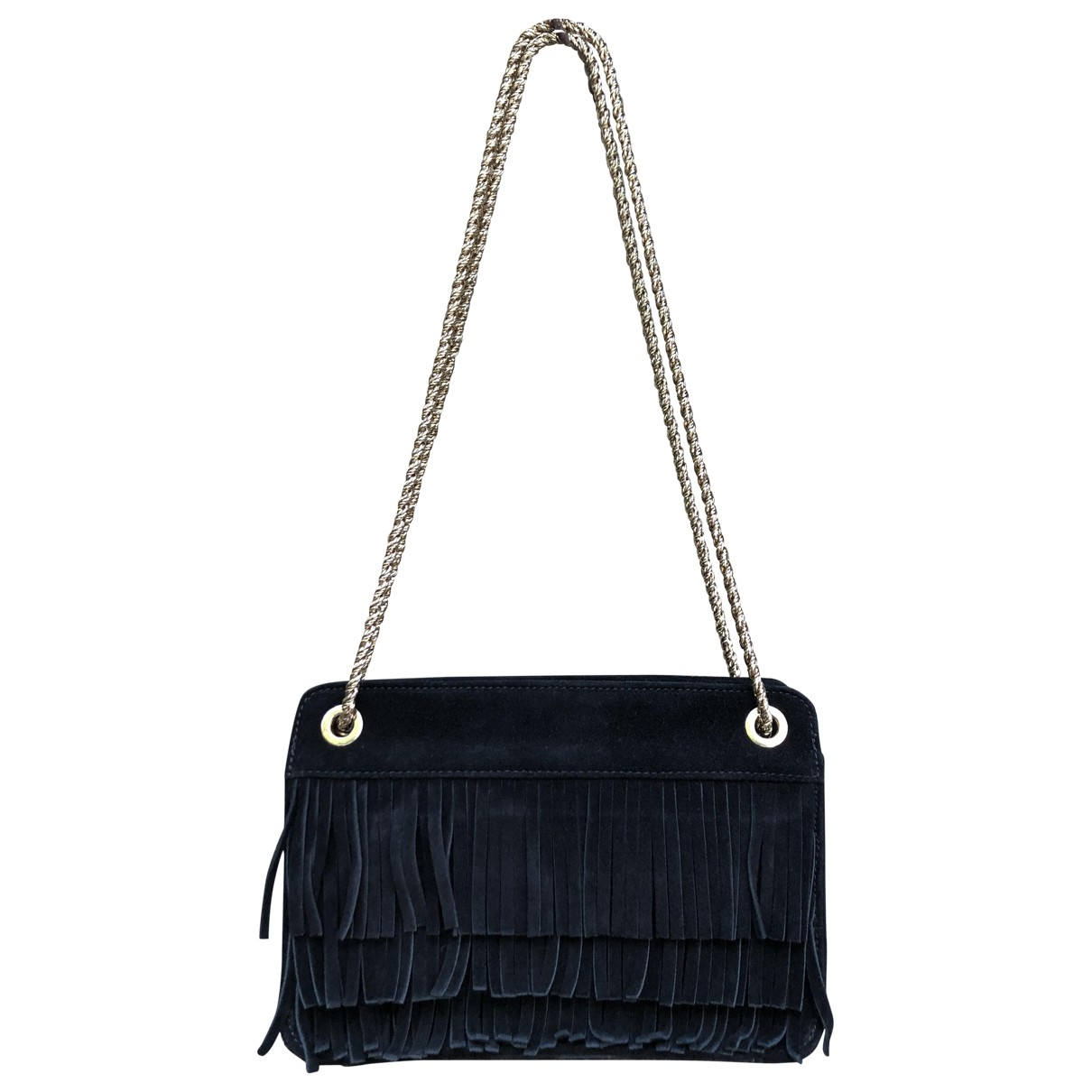 Sézane N Black Suede handbag for Women N