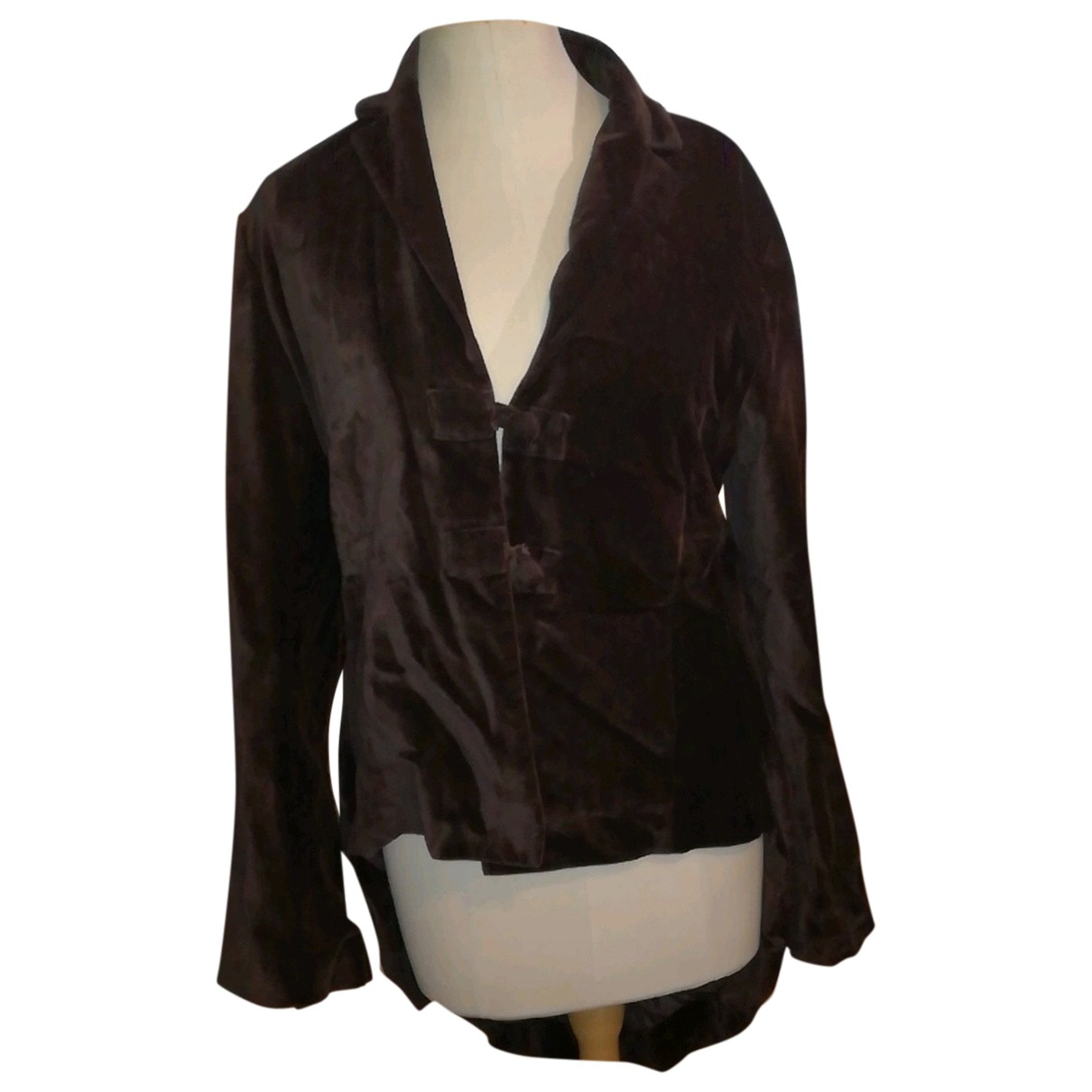 Essentiel Antwerp \N Brown Velvet jacket for Women 42 FR