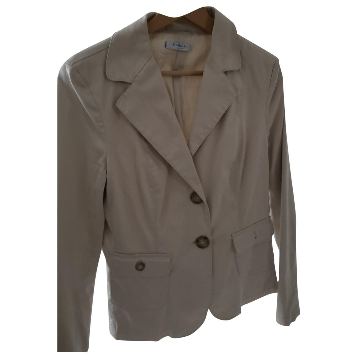 Marella \N Beige Denim - Jeans jacket for Women 44 FR