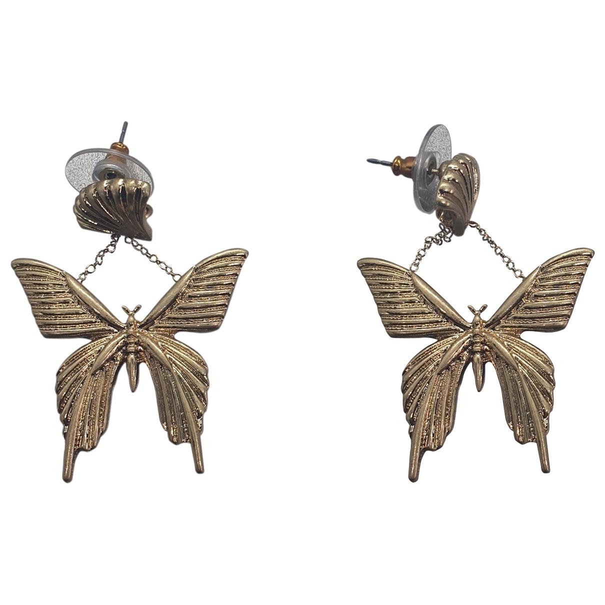Oscar De La Renta \N Gold Gold plated Earrings for Women \N