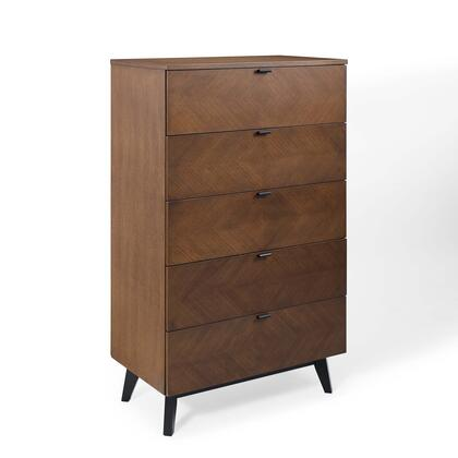 Kali Collection MOD-6195-WAL Wood Chest in Walnut