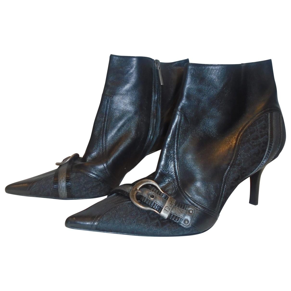 Dior - Bottes   pour femme en cuir - noir