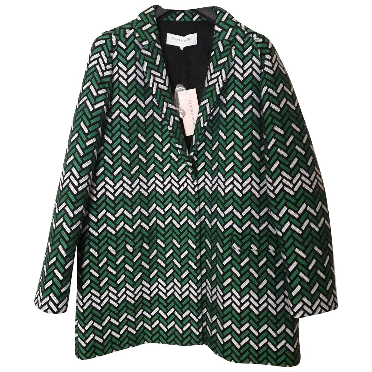 Gerard Darel - Manteau   pour femme en coton - vert
