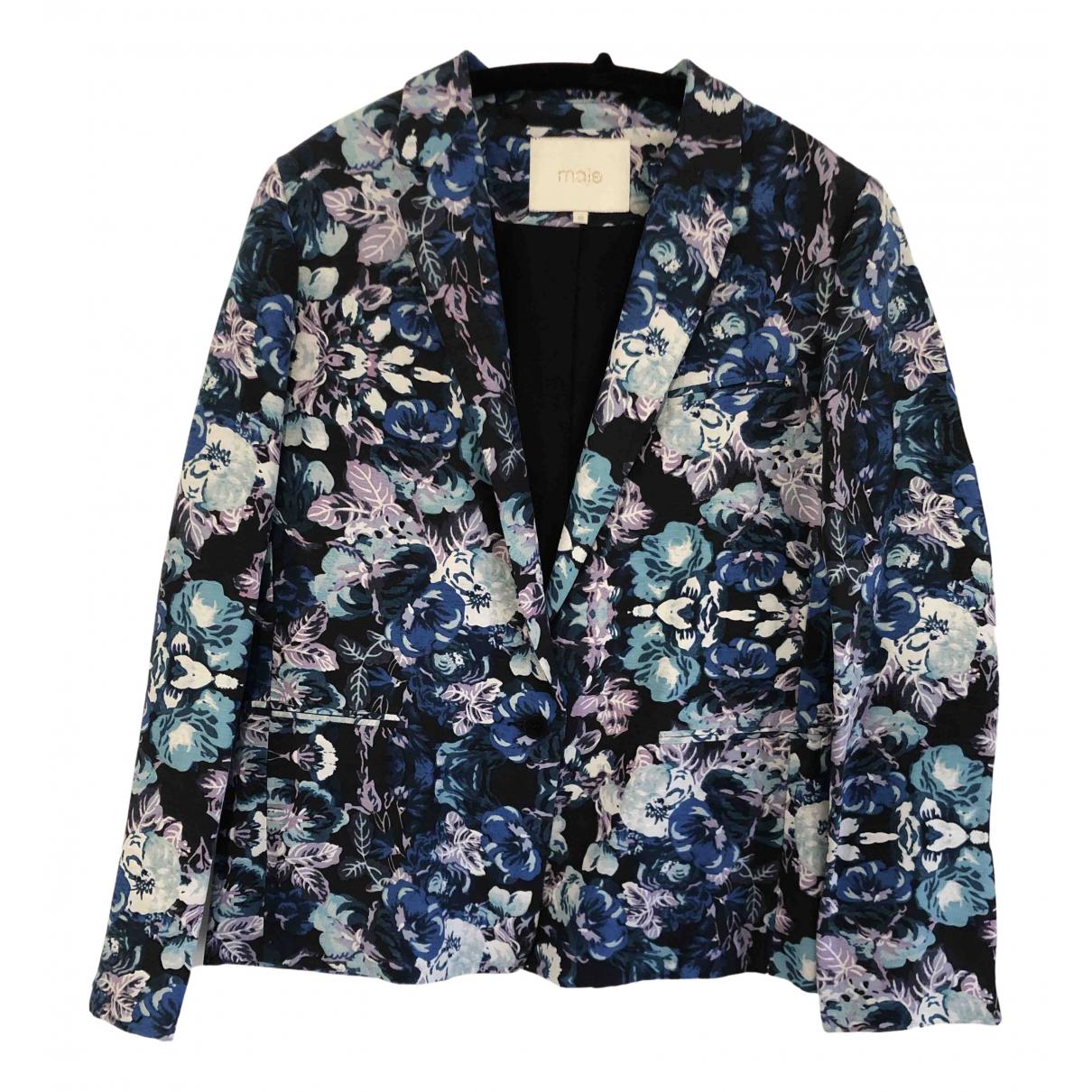 Maje \N Multicolour Linen jacket for Women 40 FR