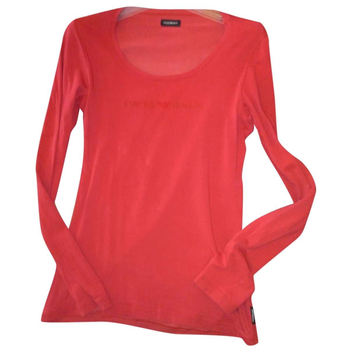 Emporio Armani \N Pullover in  Rot Baumwolle