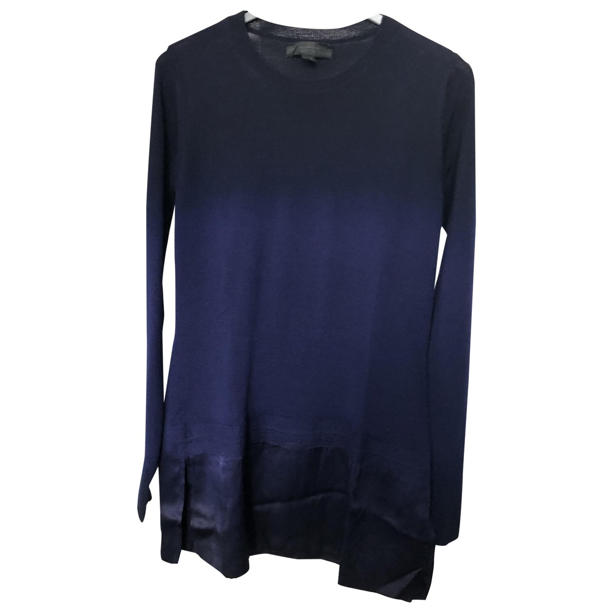 Burberry \N Pullover in  Marine Wolle