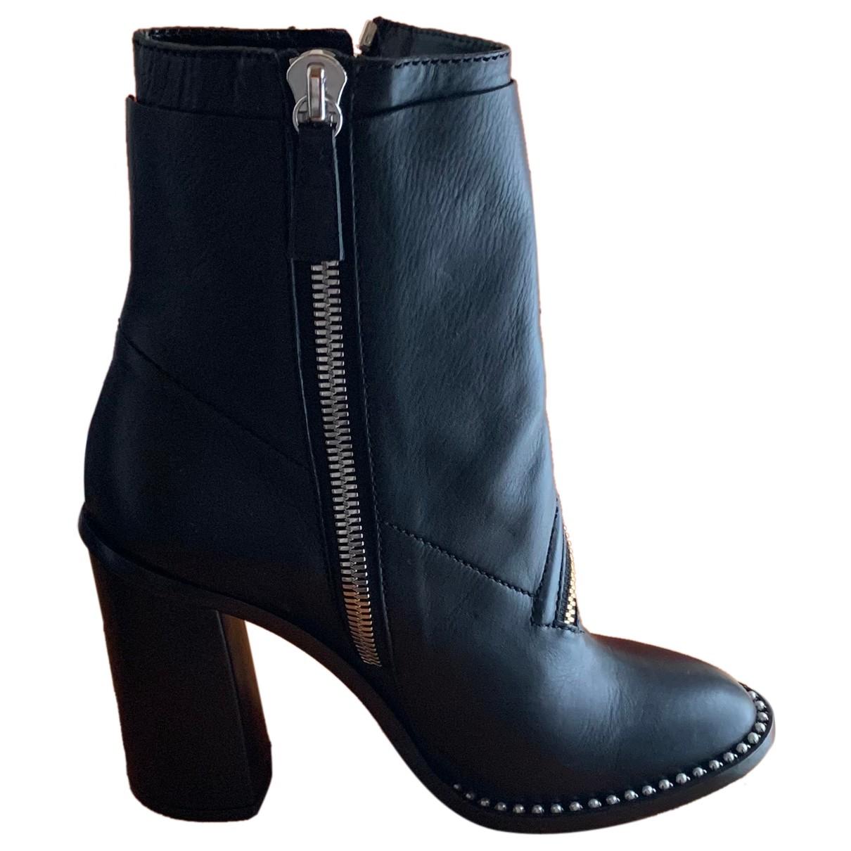Casadei - Boots   pour femme en cuir - noir