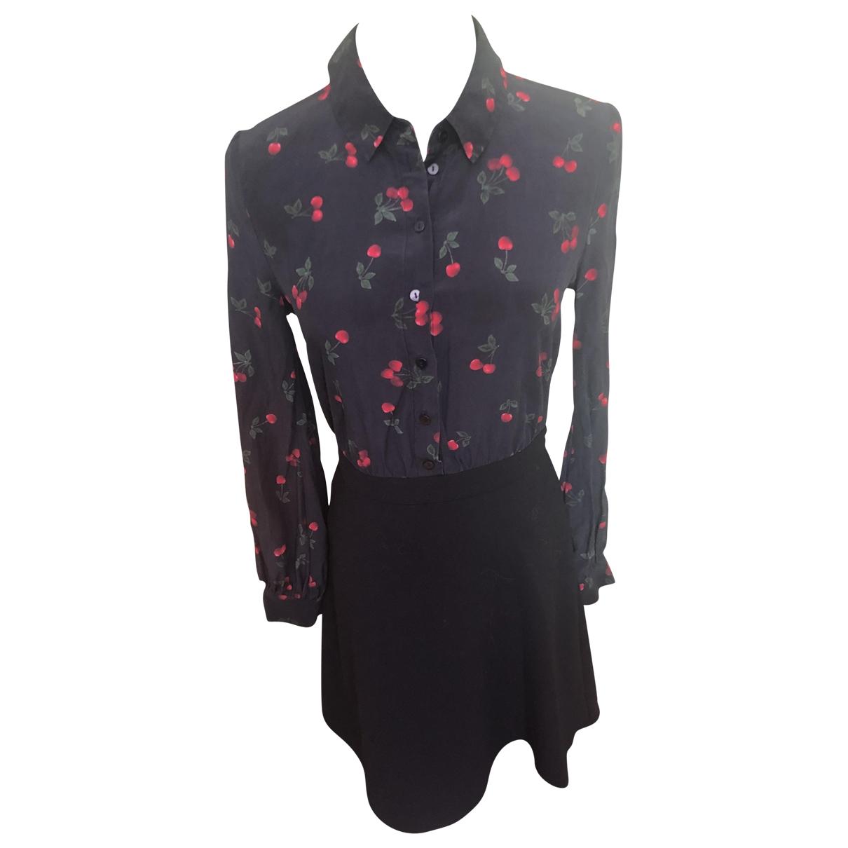 The Kooples \N Black Silk dress for Women 1 0-5