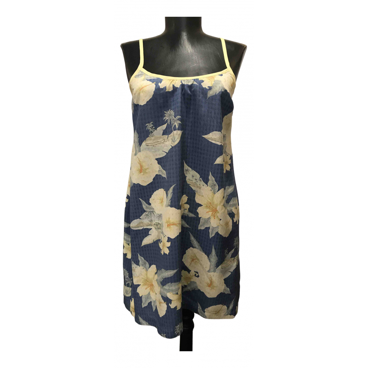 Non Signé / Unsigned N Brown Silk dress for Women S International
