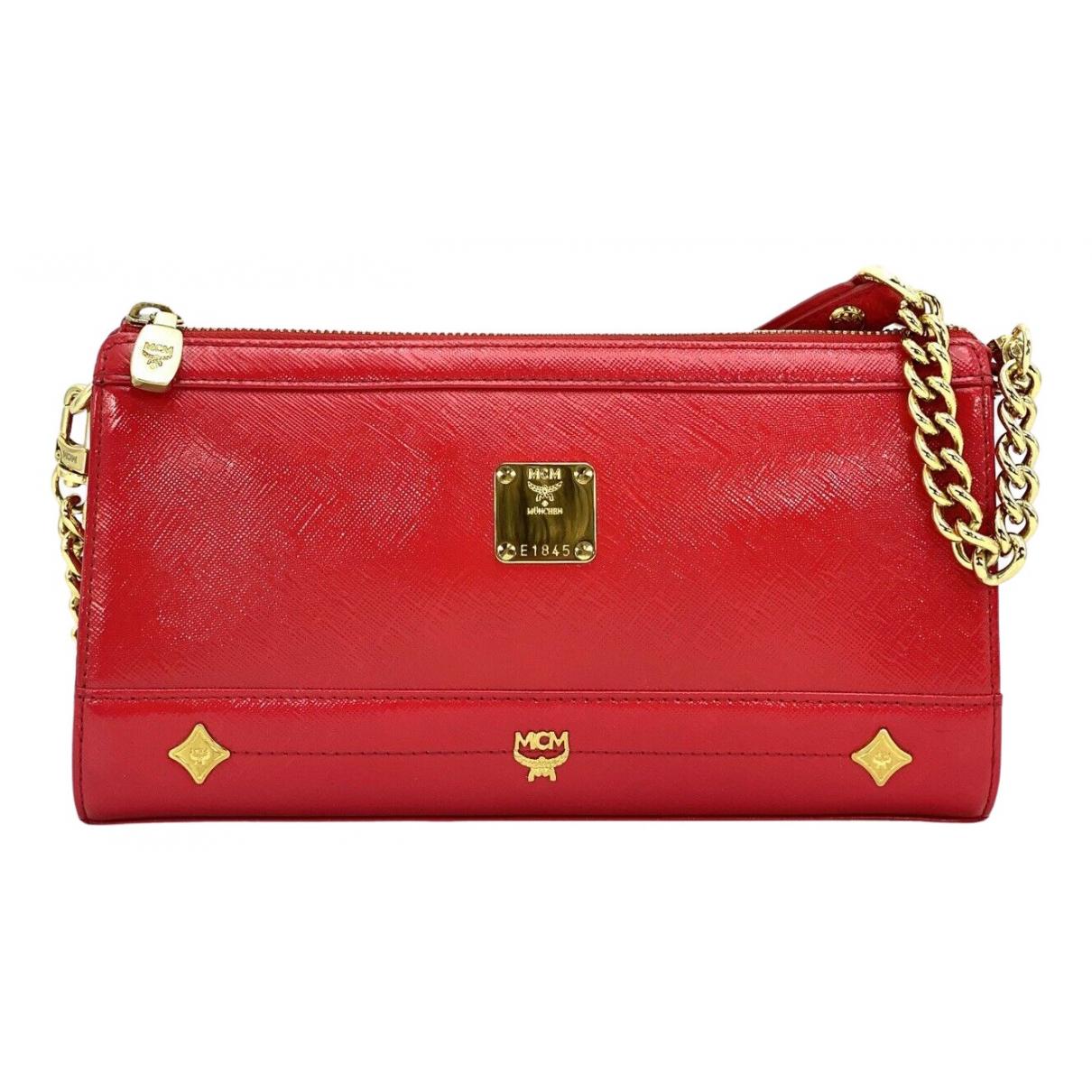 Mcm \N Handtasche in  Rot Leinen