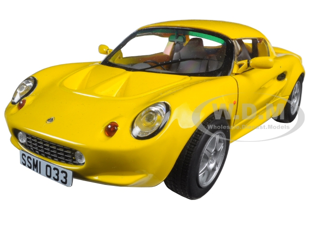 1999 Lotus Elise 111S Yellow 1/18 Diecast Model Car by Sunstar