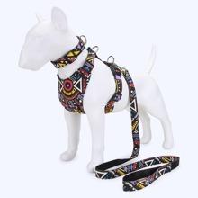 1 pieza arneses de perro geometrico con 1 pieza correa con 1 pieza collar