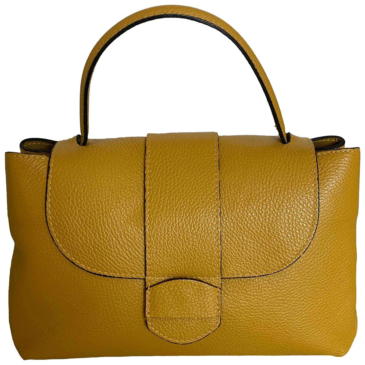 Non Signe / Unsigned \N Handtasche in  Gelb Leder