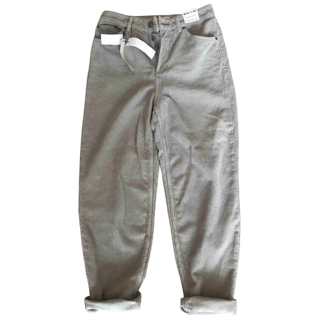 tophop \N Grey Cotton Jeans for Women 26 US