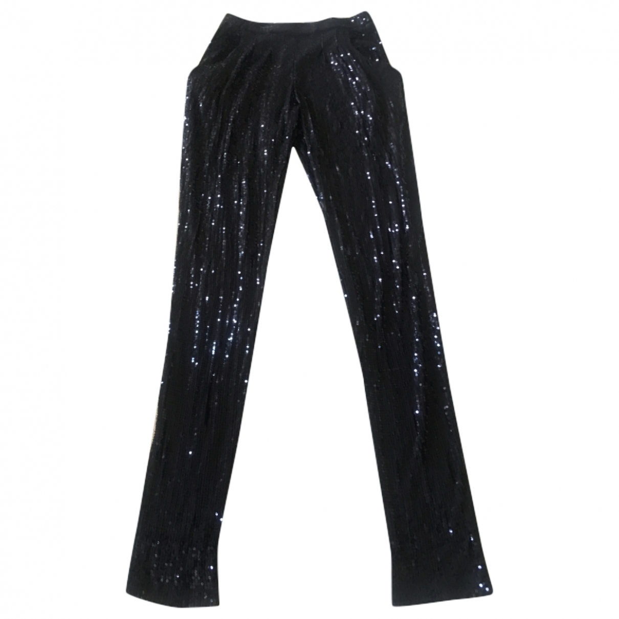 Michael Kors \N Blue Cotton Trousers for Women 38 FR