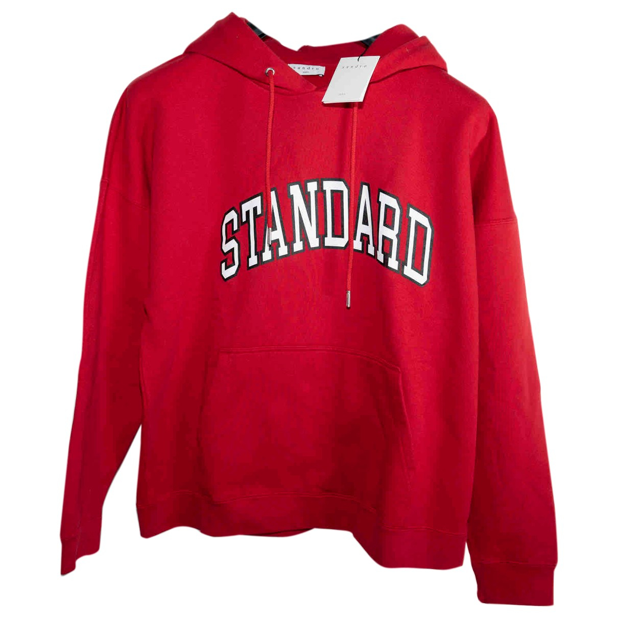 Sandro \N Pullover.Westen.Sweatshirts  in  Rot Baumwolle
