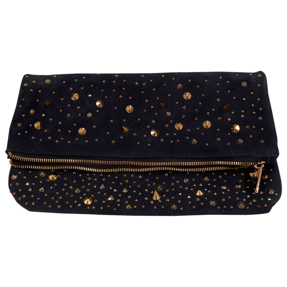 Non Signé / Unsigned \N Blue Suede Clutch bag for Women \N
