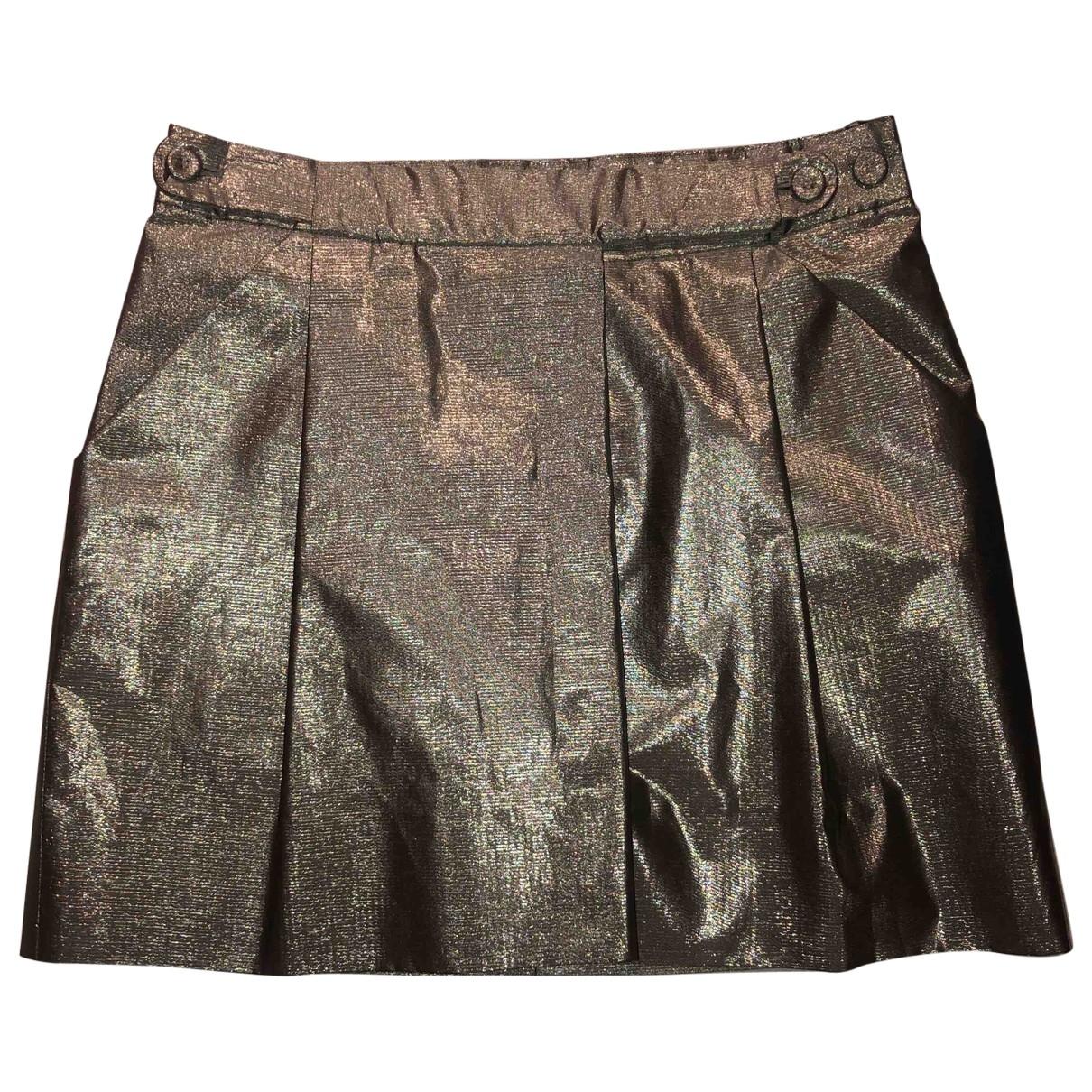 Chloé \N Gold Cotton skirt for Women 36 FR