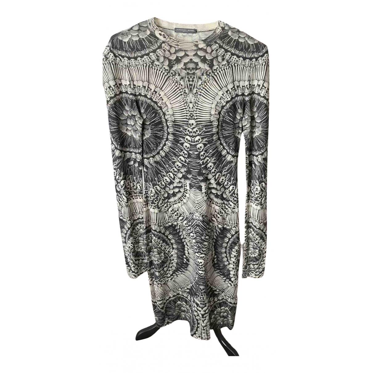 Alexander Mcqueen \N Kleid in  Grau Wolle