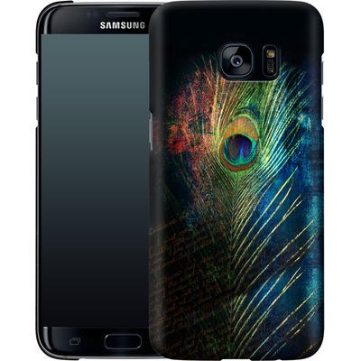 Samsung Galaxy S7 Edge Smartphone Huelle - Peacock Feather von Mark Ashkenazi