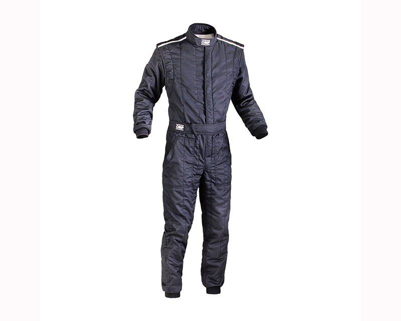 OMP Racing IA01828A07156 FIA 2 Layer First S Racing Suit Black: 56