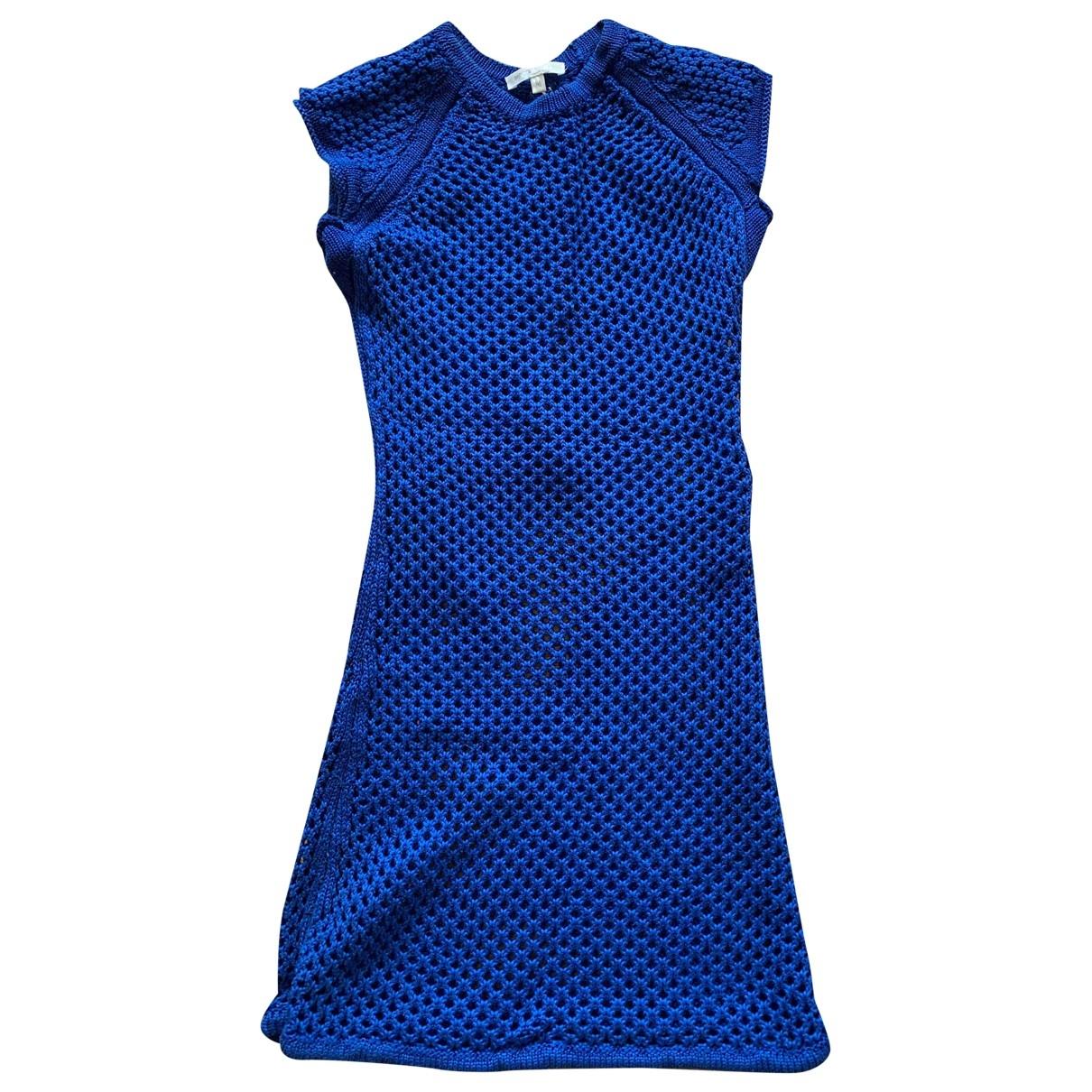 Paule Ka \N Kleid in  Blau Baumwolle