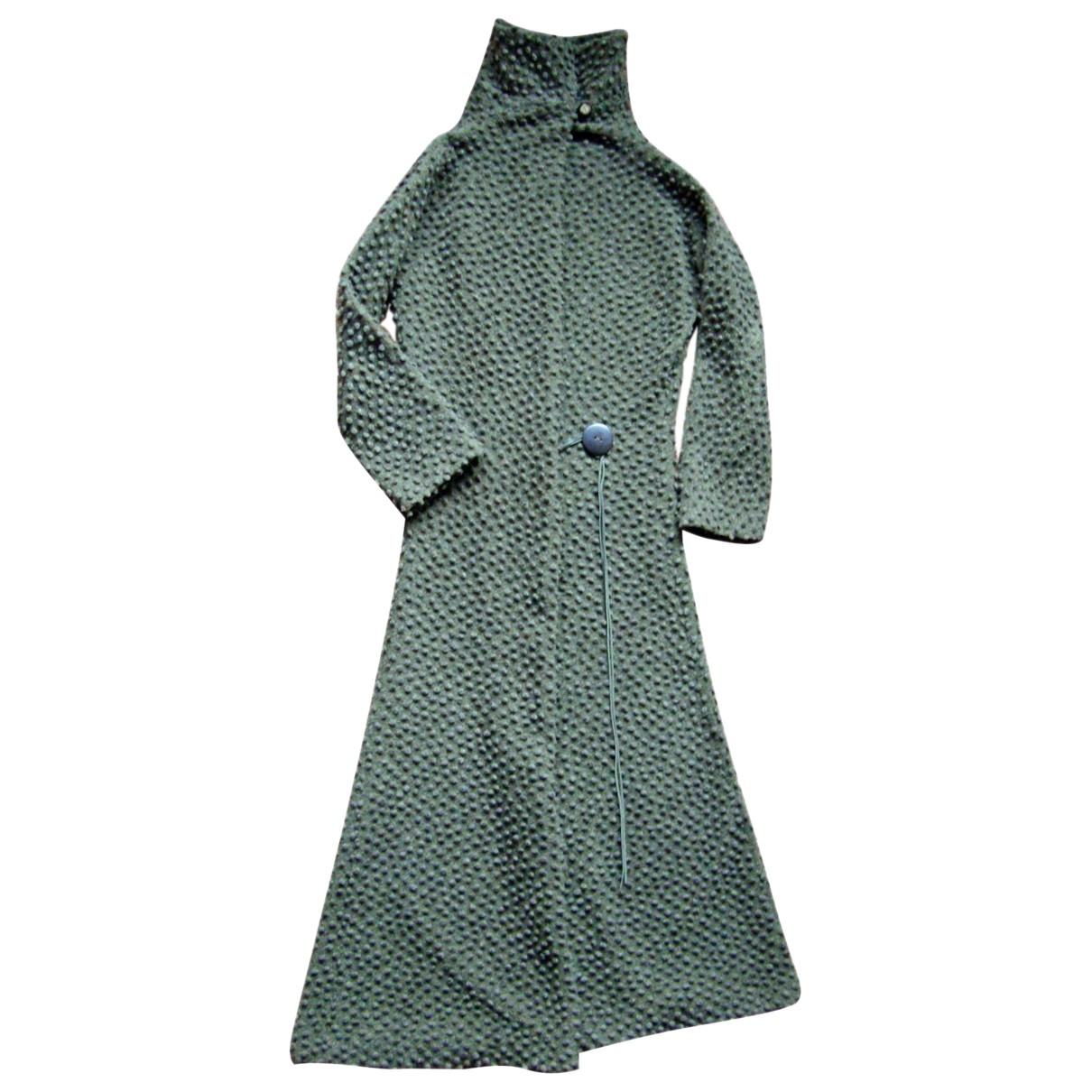 - Manteau   pour femme en laine - kaki