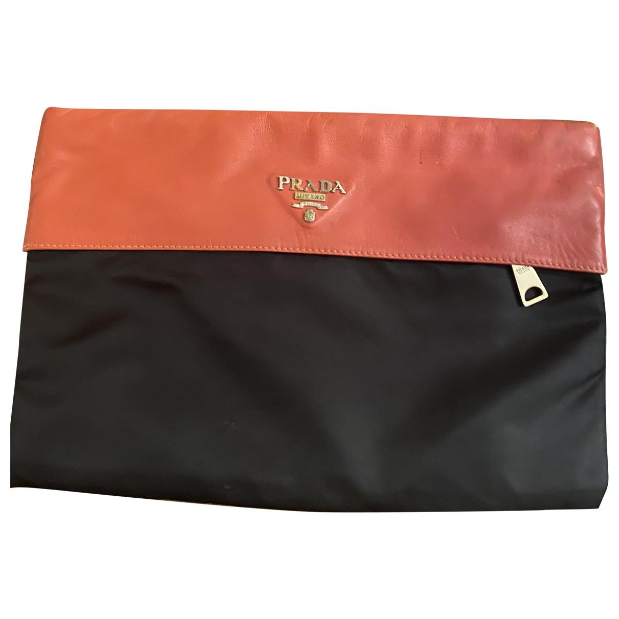 Prada \N Orange Leather Clutch bag for Women \N