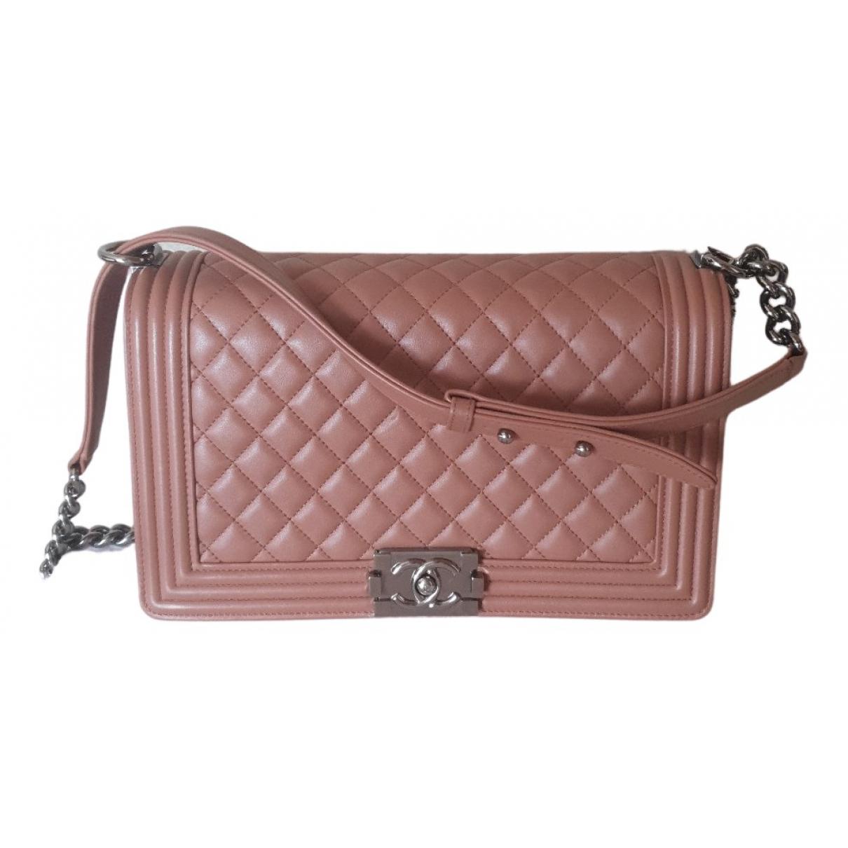Chanel Boy Brown Leather handbag for Women N