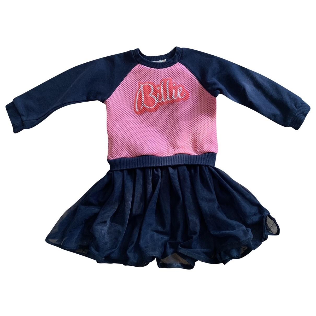 Billieblush - Robe    pour enfant en coton - marine