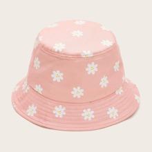 Sombrero cubo con bordado floral