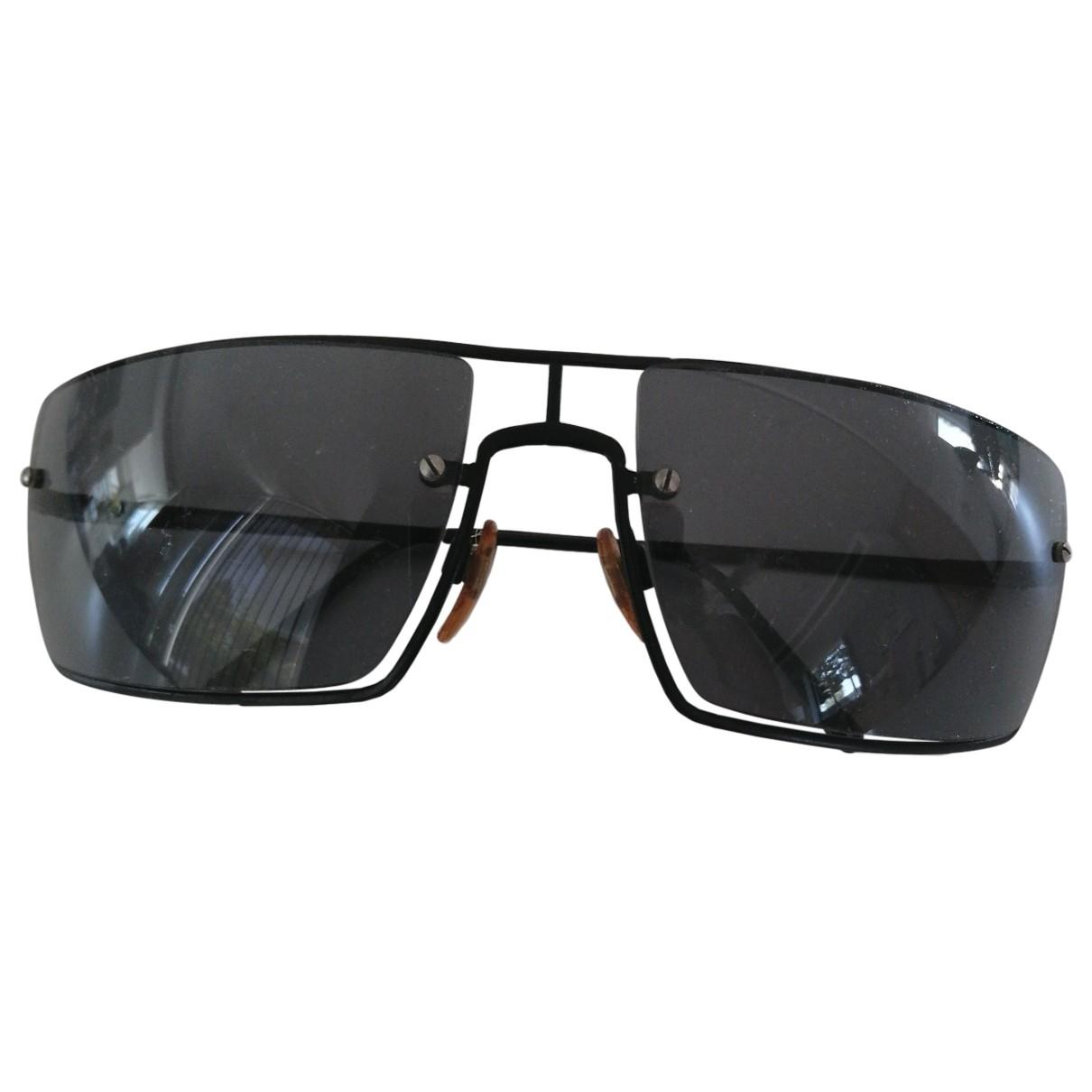 Giorgio Armani \N Sonnenbrillen in  Schwarz Metall