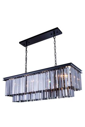 1202D40MB-SS/RC 1202 Sydney Collection Pendent Lamp D: 14 H: 18 Lt: Mocha Brown Finish (Royal Cut Silver Shade