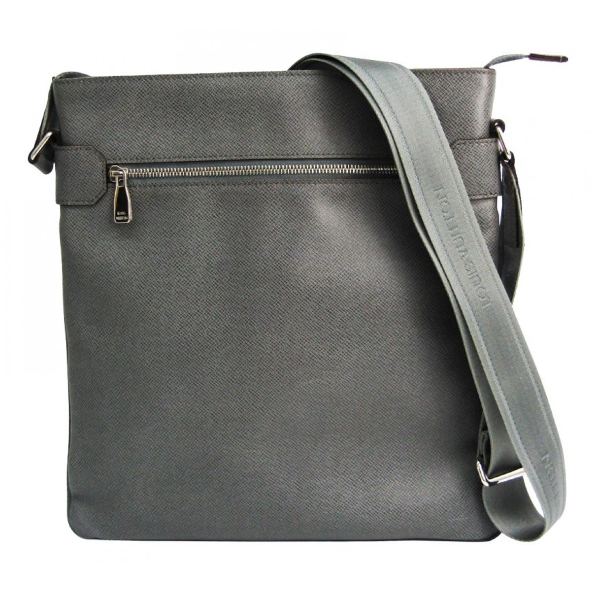 Louis Vuitton - Sac   pour homme en cuir - gris