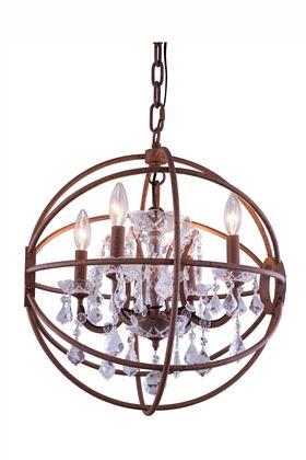 1130D20RI/RC 1130 Geneva Collection Pendent Lamp D:20 H:23 Lt:5 Rustic Intent Finish (Royal Cut