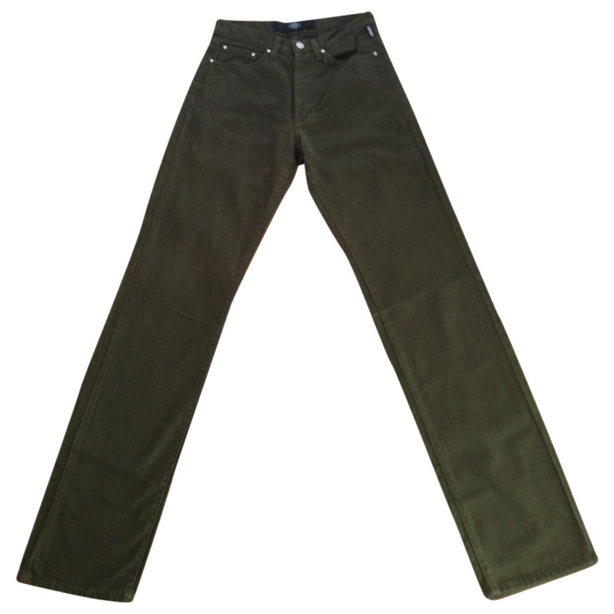 Versace Jeans \N Khaki Cotton Trousers for Women 42 FR