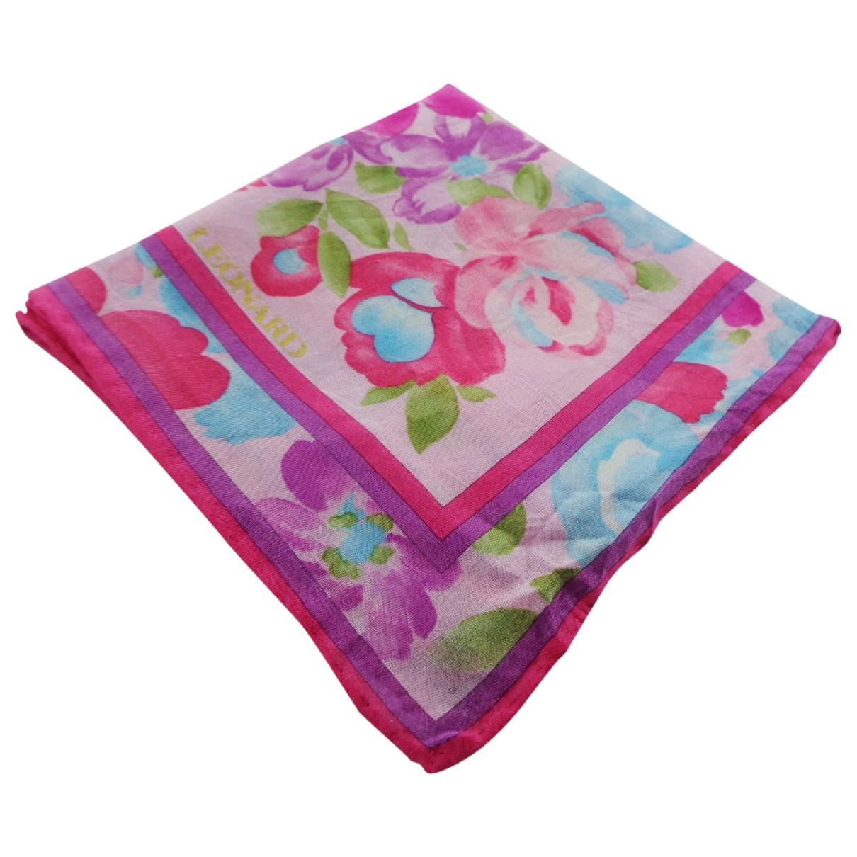 Leonard \N Pink Cotton Silk handkerchief for Women \N