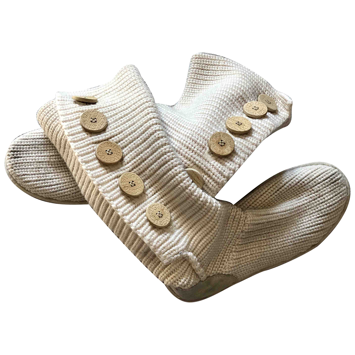 Ugg - Bottes   pour femme en veau facon poulain - blanc
