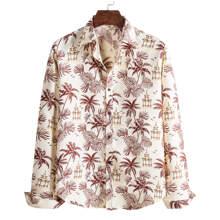 Shirt mit tropischem Muster und Knopfen