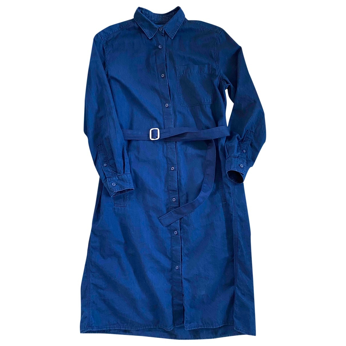 Acne Studios \N Kleid in  Blau Baumwolle