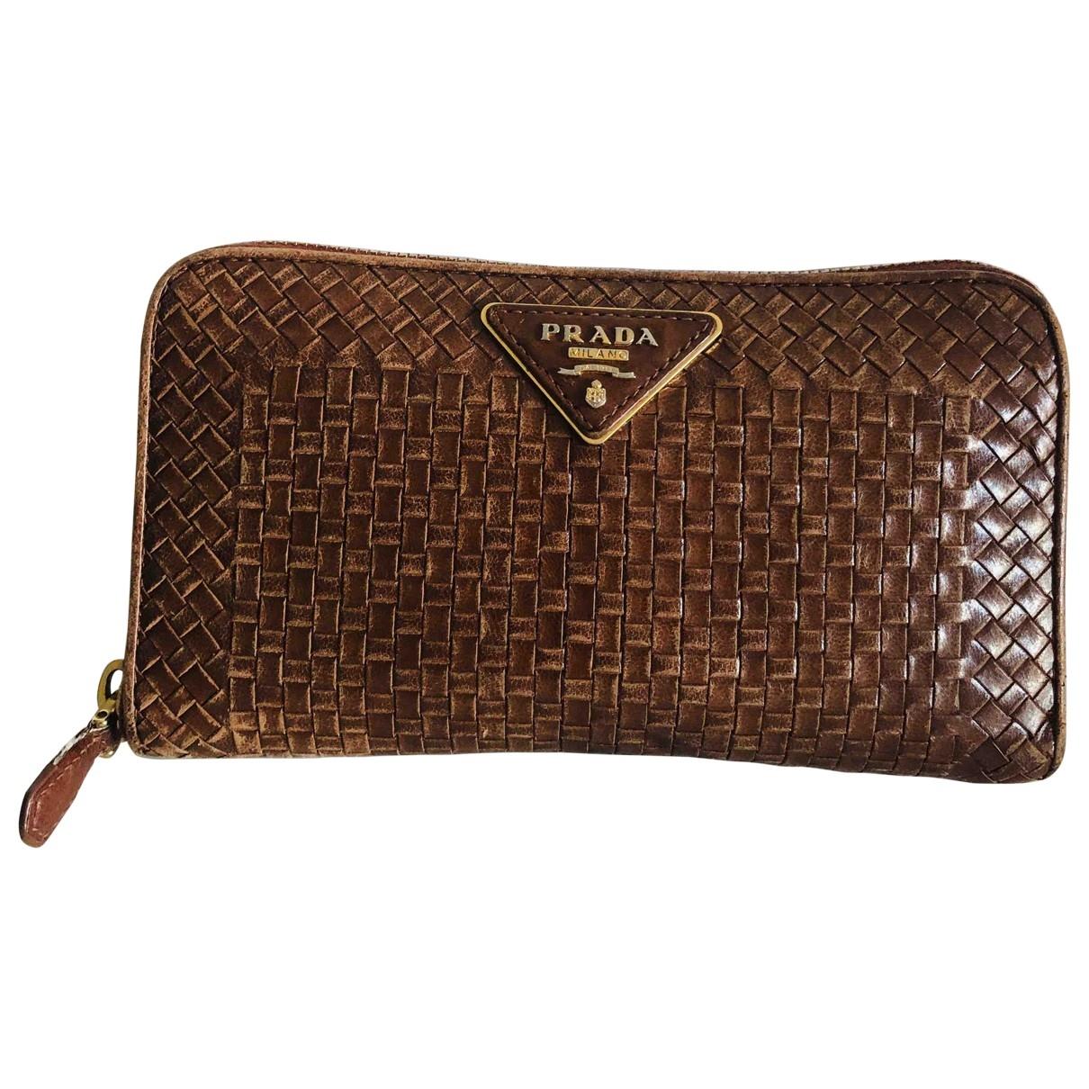 Prada \N Brown Leather wallet for Women \N