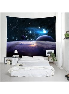 3D Outer Space and Planets Printing Decorative Hanging Wall Tapestry