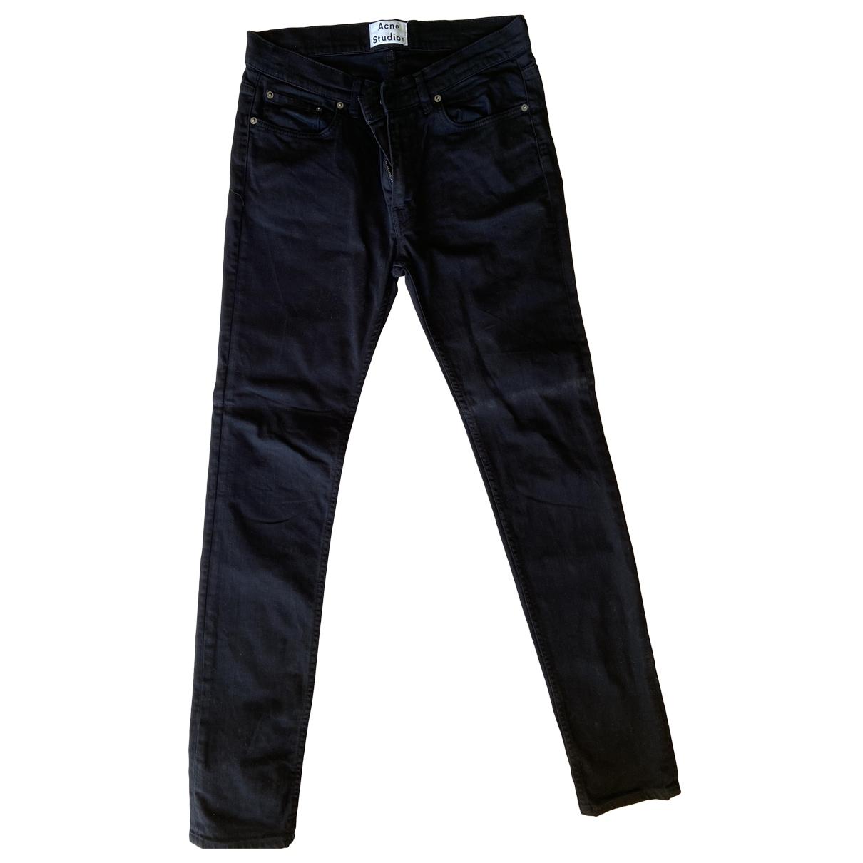 Acne Studios \N Black Cotton Jeans for Men 31 US